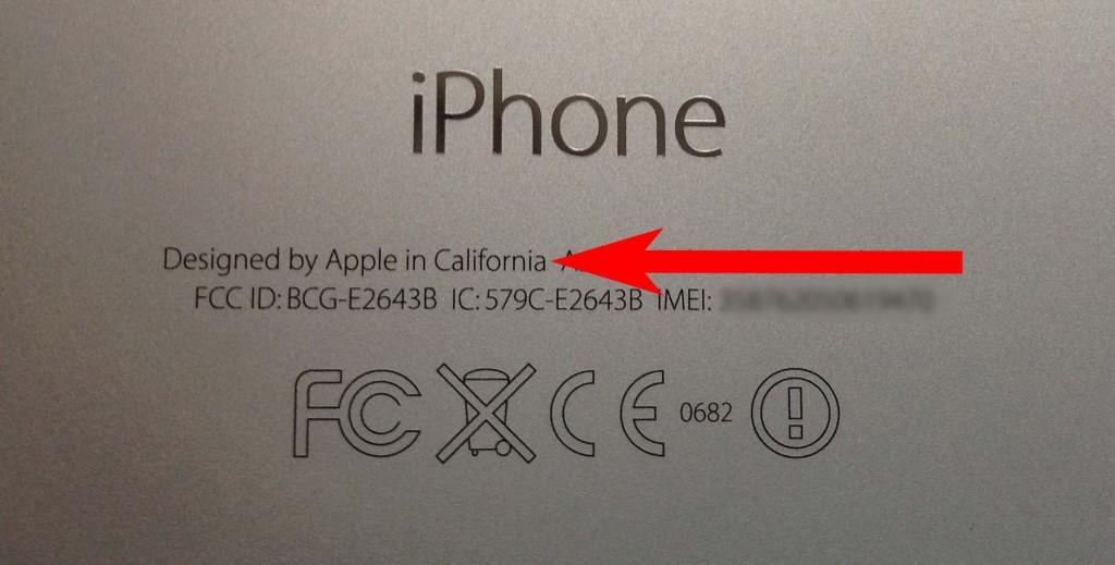 Айфон разработан в США