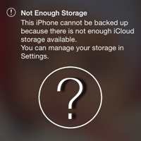Not enough Storage на iPhone
