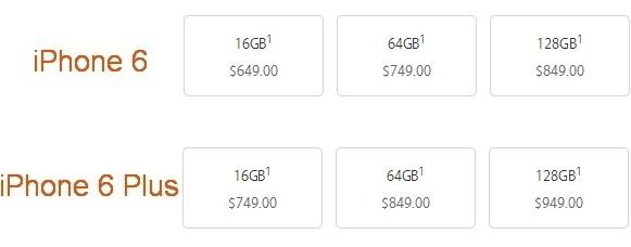 Цена на iPhone 6 без контракта