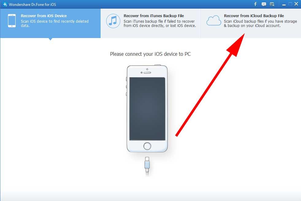 Загрузка копии iCloud