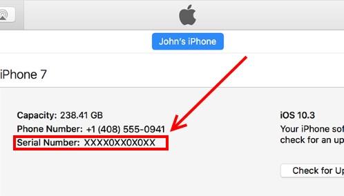 iTunes покажет IMEI iPhone при подключении
