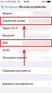 IMEI можно узнать в настройках iPhone