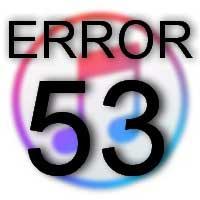 Ошибка номер 53 в iTunes