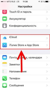 Настройки входа в Apple ID и iCloud