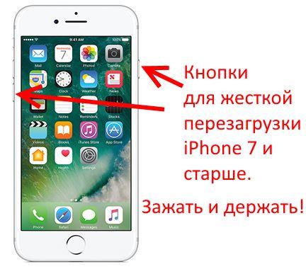 Принудительное отключение и включение iPhone 7