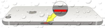 Расположение индикатора жидкости в iPhone 8 (Plus)
