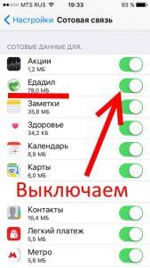 Одна из программ на iPhone сильно жрет трафик