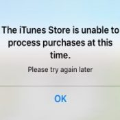iTunes Store is unable to process