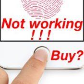 Не работает сканер отпечатков в iPhone - покупаем?