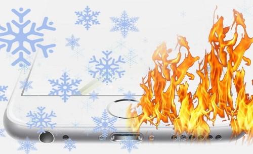 Нагрев или охлаждение iPhone