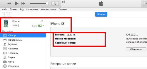 Подключение к iTunes - верный способ отличить iPhone SE от 5S