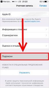 Управление подписками на iPhone