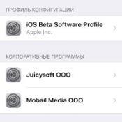 Профили в iPhone и iPad