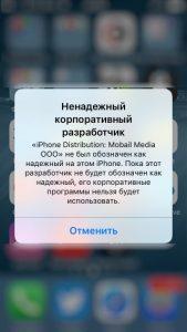 Ненадежный корпоративный разработчик в iOS