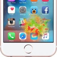 Пятна при нажатии на экран iPhone