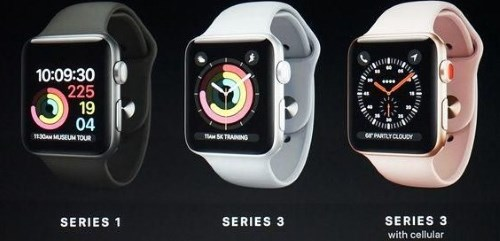 Сравнение Apple Watch Series 1 и Series 3
