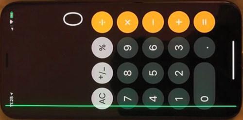 Брак iPhone X - зеленая полоса на экране