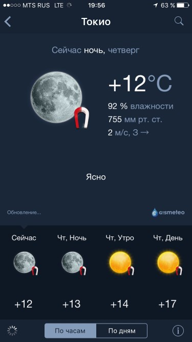 Gismeteo для iOS