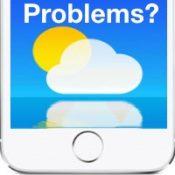Проблемы с погодой на iPhone