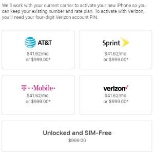 Какой iPhone (без контракта) заказать из Америки