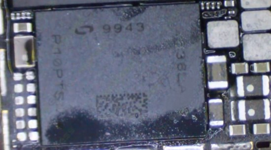 Микросхема «модем» на iPhone