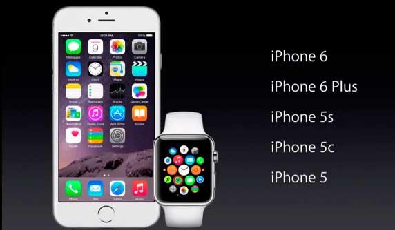 C какими моделями iPhone работает Apple Watch