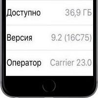 """В колонке """"оператор"""" в настройках iOS написано """"Carrier"""""""